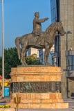 Skulptur Gotse Delcev in Skopje lizenzfreies stockbild