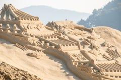 Skulptur haeundae Strand des Busan-Sandfestivals 2015 Tages Stockfotos