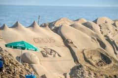 Skulptur haeundae Strand des Busan-Sandfestivals 2015 Tages Stockbild