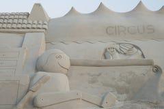 Skulptur haeundae Strand des Busan-Sandfestivals 2015 Tages Lizenzfreies Stockfoto