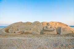 Skulptur haeundae Strand des Busan-Sandfestivals 2015 Tages Lizenzfreies Stockbild