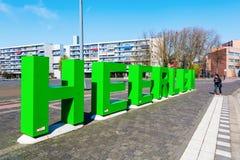 Skulptur in Heerlen, die Niederlande lizenzfreie stockfotografie