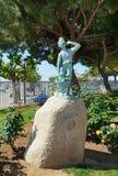 Skulptur i den Cambrils staden, Spanien Fotografering för Bildbyråer