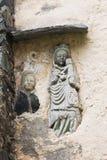 Skulptur i den Maria Schnee pilgrimsfärdkyrkan, Österrike Arkivfoton