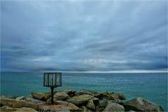 Skulptur i havet Royaltyfri Bild