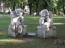 Skulptur i park Royaltyfria Foton