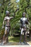 Skulptur i parkera Arkivbilder