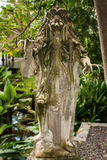 Skulptur i Tirtaen Gangga parkerar, Karangasem, Bali, Indonesien royaltyfri foto