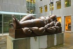 Skulptur i Vaduz Från Liechtenstein furstendöme Arkivfoton