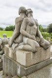 Skulptur i Vigeland parkerar Oslo norway Arkivfoton
