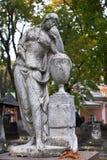 Skulptur im Donscoy Kloster Stockfotografie