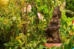 Skulptur im Garten Stockbild
