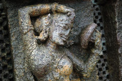 Skulptur im Konark Tempel Stockfotos