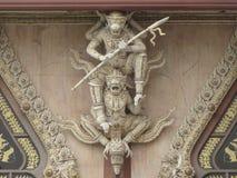 Skulptur im Tempel Stockfotografie