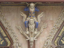 Skulptur im Tempel Stockbild