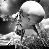 skulptur Künstlerischer Blick in Schwarzweiss Stockbild