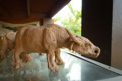 Skulptur leraskulptur, statyer Royaltyfri Fotografi