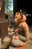 Skulptur leraskulptur, statyer Royaltyfri Foto