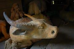 Skulptur leraskulptur, statyer Royaltyfri Bild