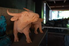Skulptur leraskulptur, statyer Royaltyfria Bilder
