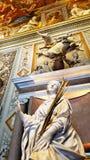 Skulptur, Malereien, Wandgemälde und Antiquitäten in Borghese-Galerie lizenzfreies stockbild