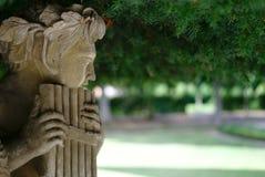 Skulptur mit Wannenflöte Stockfotos