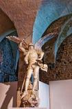 Skulptur in Mont Saint Michel in Normandie von Manche Frankreich Lizenzfreies Stockbild