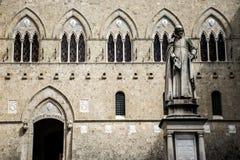 Skulptur Monte-dei Paschi lizenzfreies stockbild