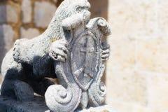 Skulptur mytiskt fä fotografering för bildbyråer