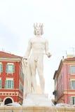Skulptur in Nizza Stockbild