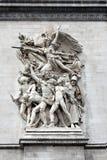Skulptur på bågen av triumfen, Paris, Frankrike Arkivbild