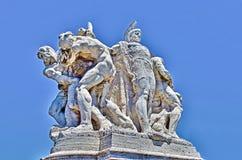 Skulptur på den Vittorio Emanuele II bron i Rome Arkivfoto