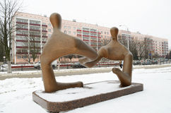 Skulptur på ett kommersiellt tema Royaltyfria Foton