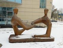 Skulptur på ett kommersiellt tema Royaltyfria Bilder