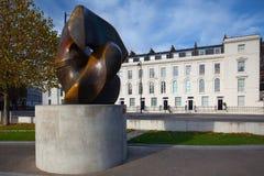 Skulptur på London Millbank Royaltyfri Foto