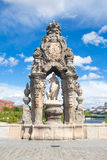 Skulptur på Toledo Bridge Arkivfoto