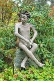 Skulptur in Parikkala-Skulpturenpark, Finnland Stockbilder