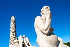 Skulptur parkerar in arkivfoto