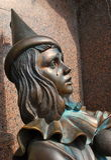 Skulptur Pierrot Arkivbilder