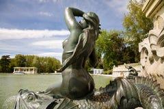 Skulptur, Retiro, Madrid Stockfoto