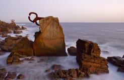 Skulptur in San Sebastian Stockfoto