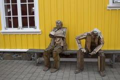 Skulptur in Siglufjordur in Island Lizenzfreies Stockbild