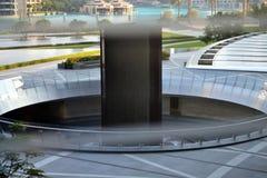 Skulptur Souk Al Bahar Area Dubai Stockbild