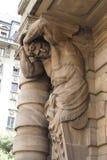 Skulptur-städtisches Theater Sao-Paulo Stockfotos