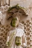 Skulptur in St. Andrew Cathedral im Bordeaux stockbild