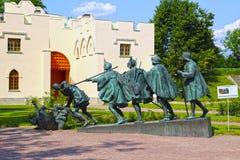Skulptur A. Taratynov durch Bruegel-Malerei Lizenzfreies Stockfoto