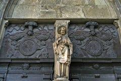 Skulptur und Woodcarving, Benediktinerabtei Stockbilder