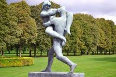 Skulptur in Vigeland-Park, Oslo stockfoto