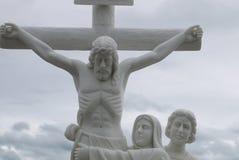 Skulptur vom Leben- und Jesus Christ-`s Tod stockfotos