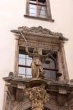 Skulptur von Dame Justice Justitia ab 1591 an der alten Stadt von Goerlitz Lizenzfreie Stockfotografie